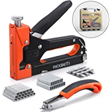 Heavy Duty Staple Gun /& 600 Staple Pack T and U pin with Cary Case DIY UK
