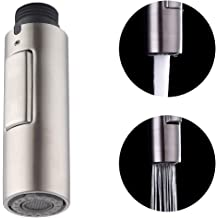 Fit 1//4inch Sink Connector Hibbent Dual Function 2 Flow Kitchen Sink Faucet Spray Head Replacement Brushed Nickel Kitchen Side Sprayer with Hose and Holder