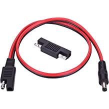4Packs 14AWG SAE Plug Harness Extension Connector Cable with Cover for Car Motor Solar Batteries