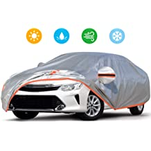 "Tecoom Hard Shell Coupe//Convertible//Sport Car Cover Door Zipper Design Waterproof UV-Proof Windproof for All Weather Indoor Outdoor Fit 170/""-180/"" Length"