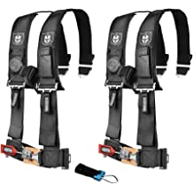 2 Pack Pro Armor A114230OR Orange 4-Point Harness 3 Straps