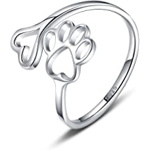 3Pcs Wave Heart Semicolon Rings Set Stainless Steel Love Heart Wave Open Finger Ring Friendship Jewelry Set Size 7 8 9 10