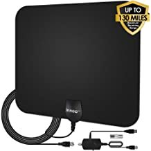 Upgraded Digital TV Antenna Innoo Tech Indoor TV Antenna for Long Range Up to 30-80+ Miles Range HD,VHF and UHF Free HDTV Channels Cable TV Antenna for HD TV Apply to 4K