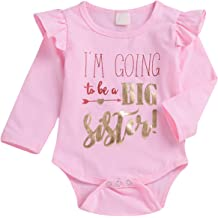 Toddler/ Baby/ Girls/ Romper Im Going to Be Big Sister T-Shirt Infant Shirt Top