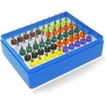 XLX 20pcs PCB Print Circuit Board Carbide Tungsten Steel Jobber Micro Drill Bits Set Shank 0.3 to 1.2mm 2 each