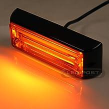 """White 6/"""" 20W COB LED STROBE SIG Hazard Warning Emergency Roof Light Bar Mount"""