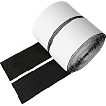 Perfect for Home or Office Pack of 4 Sticky Back Hook and Loop Fasteners VELCRO Brand 3 1//2in x 3//4in Strips General Purpose Peel /& Stick White