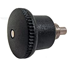 GN 822 Series Stainless Steel Non Lock-out Type B Mini Indexing Plunger with Hidden Lock Mechanism 4mm Item Diameter M8 x .75mm Thread Size 5mm Thread Length