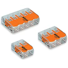 8 pcs Wago 5 way 221 Secure Wire Connector Terminal Block Cage Clamp Connection