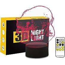 Gymnastics 3D Night Light Color Change Crackle Paint Base Table Desk Sleep Lamp