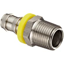 Straight Male Connector 12 mm Tube x 1//2 BSPT Thread 12 mm Tube x 1//2 BSPT Thread Stainless Steel AIGNEP USA 60000-12-1//2 Push-In Fittings