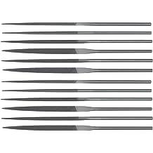 #2 Coarseness Rectangular Swiss Pattern 5-1//2 Length Nicholson Needle File with Handle Double Cut