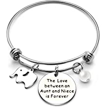 AGR8T Sister Bangle Bracelet Bestie Birthday No Matter Where Sisters are Close at Heart