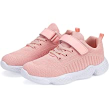Toddler//Little Kid//Big Kid Hetios Boys and Girls Shoes Running Gym Sneakers Cheer Leading Athletic Lightweight Sneakers Breathable