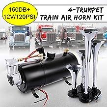 UK 150db Air Horn Loud Truck Car Trumpet Train Horns Kit Compressor Extra Loud