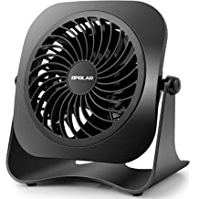 OPOLAR Biggest Battery Operated and USB Powered Fan with TWO batteries Rechargeable Desk Fan with 9 Inch Metal Frame Two Speeds Lower Noise Enhanced Airflow Personal Cooling Fan for Home /& Office