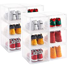 Shoes Display Collection Storage Box Weoto Shoe Box Acrylic Shoe Container Closet Shelf Transparent Shoes Sneakers Storage Drawer