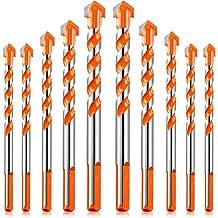 Weirui Drill Bit Set 7 Pieces Alloy Triangle Twist Drill Bit 6//8//10//12 mm Drill Bit for Wall Glass Plastic Wood and Tile Black