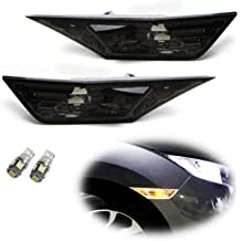 iJDMTOY Smoked Lens Amber Full LED Front Side Marker Light Kit For 2010-15 Chevy Camaro Powered by 26-SMD LED Replace OEM Sidemarker Lamps