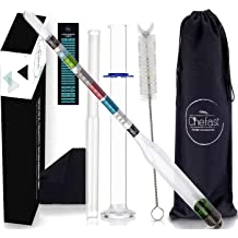 1/× Tools 28cm Clear Glass Triple Scale Hydrometer For Home Brew Alcohol Beer//Wine Making Industrial /& Scientific Lab /& Scientific Supplies 1/×Triple Scale Hydrometer