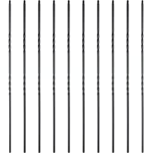 Satin Black Oval Set of 5 44 x 1//2 Square J9088 Iron Metal Balusters for Stairs