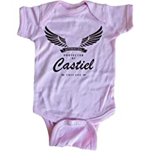 Brain Juice Tees Protected by Castiel Supernatural Baby One Piece