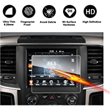 RUIYA HD Clear TEMPERED GLASS Car In-Dash Screen Protective Film 2011-2018 Chrysler 300 Uconnect 8.4 Inch Touch Screen Car Display Navigation Screen Protector
