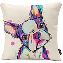 001 GUIOTE Cotton Linen Square Personalized Decorative Throw Pillow Case Cushion Cover