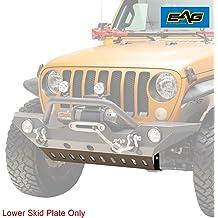 Fit for 18-19 Jeep Wrangler JL Length: 37 5//8 EAG Front Bumper Lower Skid Plate Steel Black
