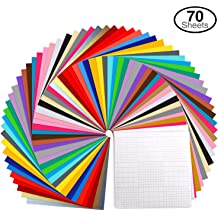 Art-in-Shock 40 Vinyl Sheets Premium Permanent Self Adhesive Set Wood Signs DIY Projects Home D/écor Cups 12x12 Glossy /& Metalized Colors Matt for Arts /& Crafts Easy to Weed /& Stick
