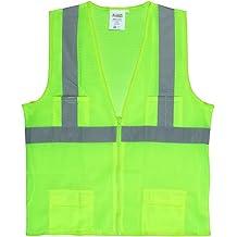 Hi-Vis Lime 3X-Large Cordova Safety Products V4313XL Cor-Brite Short Sleeve Shirt