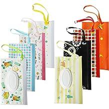 LIGONG 2 PCS Reusable Wet Wipe Pouch Travel Wipes Case Reusable Refillable Wet Wipe Bag Baby Wet Wipe Portable Travel Cases