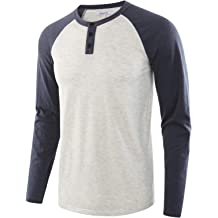 Vetemin Mens Casual Soft Solid Retro Workout Gym Short Sleeve Henley Tee Shirt