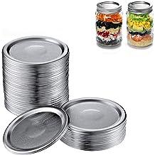 Reusable Split-Type Lids with Leak Proof Silicone for Regular Mason Jars Rose Gold Mason Jar Lids Regular Mouth Canning Jars Canning Jars Lids BPA Free Oucean 60 Pcs Canning Lids