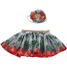 oldeagle Baby Girl Clothes 2PCS Solid Denim Bodysuit Romper+Leopard Print Skirts Clothes Set for Girls