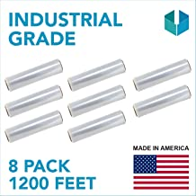 Black, 1 Pack Pallets/… Boxes Industrial Strength Plastic Pallet Shrink Film Ideal for Furniture 80 Gauge Thick Heavy Duty .Stretch wrap Moving /& Packing Wrap 18x 1500 FT Roll