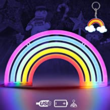 MIFXIN Rainbow Projector Light 2 Mode Portable LED Night Projection Light Battery Operated Lamp for Children Tabletop Decoration Kid Desk Lamp Travel Light Task Lighting for Baby