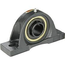 Regreasable 17//32 Slot Width Standard Duty Sealmaster ST-204 Take-Up Unit 3 Between Frames Cast Iron Housing Set Screw Locking Collar Felt Seals 20 mm Bore