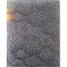 12.1x15.2cm Kwan Crafts Ink Marks Plastic Embossing Folders for Card Making Scrapbooking and Other Paper Crafts