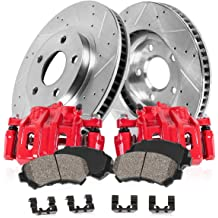 For 1992-1993 Toyota Camry Rear Drill Slot Brake Rotors Ceramic Brake Pads