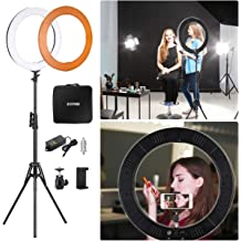 XYSQWZ LED Ring Light 3 Color 10 Ring Light Ring Light Suitable for YouTube Facebook Blog Self Portrait Live Stream Face Painting Influencer Photo Video Capture