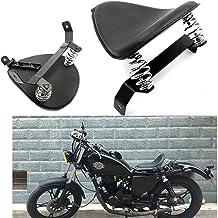 Alpha Rider Black Leather Solo Seat T-bar Torsion Spring Bracket for Kawasaki Vulcan 1500 1600 1700 2000 500