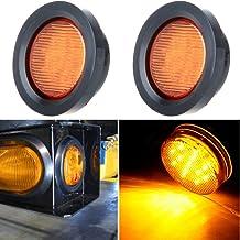 cciyu Car Marker Light 2 Pack Yellow Tear Drop LED Marker Light 20-LEDs 12-24V Cars Trucks Pickup Trailer