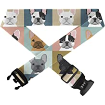GLORY ART Adjustable Travel Luggage Belts Corgi Pattern 1 PC Durable Suitcase Straps TSA Approved Lock for Travel Bag Accessories