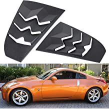 IKON Style,Rear Louver and Side Quarter Scoop Louvers IKON MOTORSPORTS Window Louver Compatible With 2003-2008 Nissan 350Z