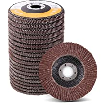 "10 Pack 4.5/"" x 7//8/"" XL 36 Grit High Density Flap Discs Jumbo Grinding Wheels T29"