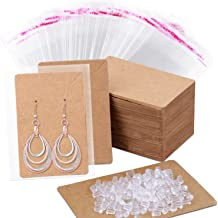 White Marble, 3.5 x 2.4 Inches 120-Set Earring Display Cards with Self-Seal Bags Necklace Display Cards Earring Card Holders Paper Tags for Hanging Ear Studs Jewelry Earrings