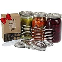 Glass Fermentation Weights by Mockingbird Bell Farm for Wide-mouth Mason Jars Making Saurkraut Kimchi