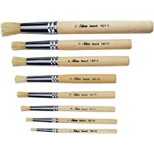 Seamless Steel Ferrule Stencil Glue And Acid Brush With Lacquered Wood Handle Weiler 40080 1 Diameter China Bristle 1-3//8 Bristle Length