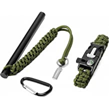 REDCAMP Magnesium Fire Starter,Thick Ferro Rod with Striker Whistle,Lightweight Fire Starters Kit for Emergency Surivival Kits,Camping Hiking Backpacking